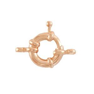 Dit boei slot van DQ metaal is te koop bij kralenwinkel Limited Edition in Den Haag in de maat 11mm in de kleur rose goud.