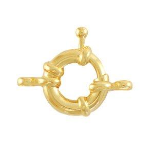 Dit boei slot van DQ metaal is te koop bij kralenwinkel Limited Edition in Den Haag in de maat 13mm in de kleur goud.