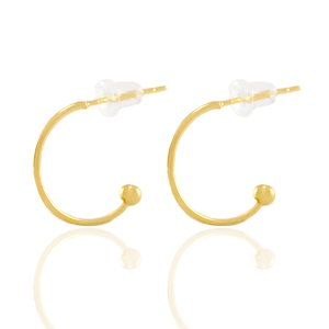 Deze creolen van DQ zijn te koop bij kralenwinkel Limited Edition in de maat 15x1mm in de kleur goud.