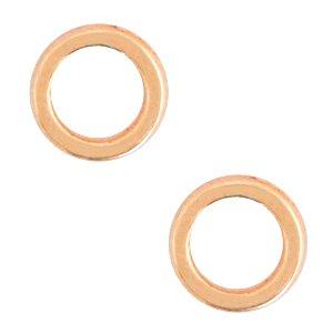 Deze dichte ring van Designer Quality is 6x1.2mm en is te koop bij kralenwinkel Limited Edition in Den Haag in de kleur rose goud.