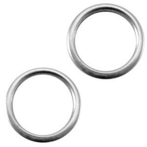 Deze dichte ring van Designer Quality is 8x1.2mm en is te koop bij kralenwinkel Limited Edition in Den Haag in de kleur zilver.