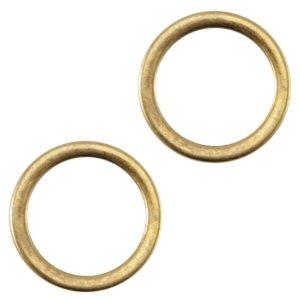 Deze dichte ring van Designer Quality is 8x1.2mm en is te koop bij kralenwinkel Limited Edition in Den Haag in de kleur brons.