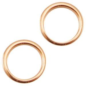 Deze dichte ring van Designer Quality is 8x1.2mm en is te koop bij kralenwinkel Limited Edition in Den Haag in de kleur rose.