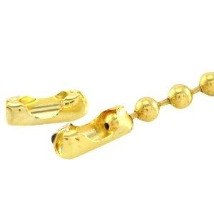 Dit slotje van DQ goud past op 2mm ball chain en is te koop bij kralenwinkel Limited Edition in Den Haag.