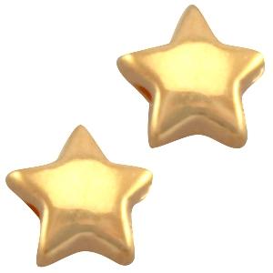 Deze gouden ster kraal van DQ kwaliteit is te koop bij kralenwinkel Limited Edition in Den Haag.