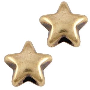 Deze bronzen ster kraal van DQ kwaliteit is te koop bij kralenwinkel Limited Edition in Den Haag.