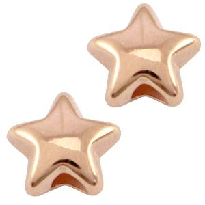 Deze rose gouden ster kraal van DQ kwaliteit is te koop bij kralenwinkel Limited Edition in Den Haag.