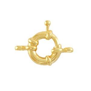 Dit boei slot van DQ metaal is te koop bij kralenwinkel Limited Edition in Den Haag in de maat 11mm in de kleur goud.