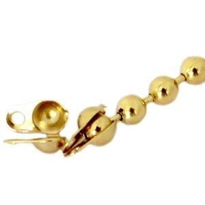 Dit eindkapje van DQ goud past op 2mm ball chain en is te koop bij kralenwinkel Limited Edition in Den Haag.