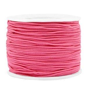 Dit gekleurde elastiek is 1,2mm dik en is te koop bij kralenwinkel Limited Edition in Den Haag in de kleur candy roze.