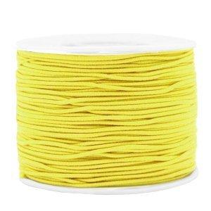 Dit gekleurde elastiek is 1,2mm dik en is te koop bij kralenwinkel Limited Edition in Den Haag in de kleur geel.