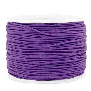 Dit gekleurde elastiek is 1,2mm dik en is te koop bij kralenwinkel Limited Edition in Den Haag in de kleur paars.