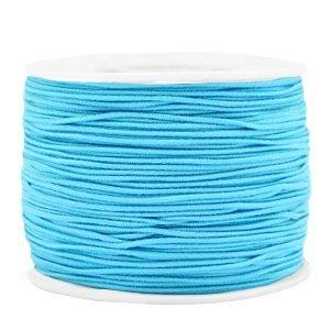 Dit gekleurde elastiek is 1,2mm dik en is te koop bij kralenwinkel Limited Edition in Den Haag in de kleur licht blauw.