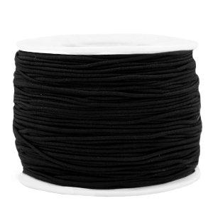 Dit gekleurde elastiek is 1,2mm dik en is te koop bij kralenwinkel Limited Edition in Den Haag in de kleur zwart.