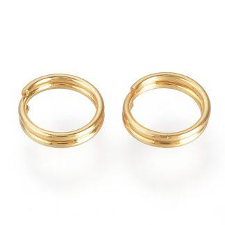 Deze RVS split ringetjes zijn te koop bij kralenwinkel Limited Edition in Den Haag in de kleur goud in de maat 6x1.4mm.