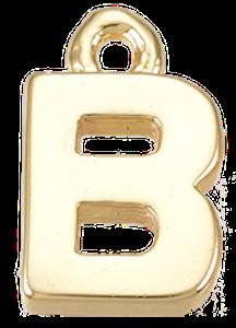 Deze gouden letterbedel is te koop bij kralen winkel Limited Edition in Den Haag in de letter B.