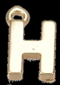 Deze gouden letterbedel is te koop bij kralen winkel Limited Edition in Den Haag in de letter H.
