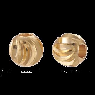 Deze vergulde kralen met groeven zijn te koop bij kralenwinkel Limited Edition in de kleur goud in de maat 6x5mm.