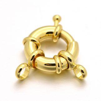 Dit boei slot van 18kt gold plated is te koop bij kralenwinkel Limited Edition in Den Haag in de maat 13x5mm in de kleur goud.