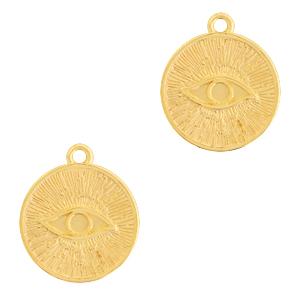 Deze bedel van Designer Quality in de vorm van een oog zijn te koop bij kralenwinkel Limited Edition in Den Haag.