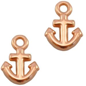 Deze anker vormige bedel van designer quality is te koop bij kralenwinkel Limited Edition in Den Haag in de kleur rose goud.