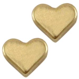 Deze bronzen hartjes kraal van DQ kwaliteit is te koop bij kralenwinkel Limited Edition in Den Haag.