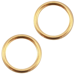 Deze dichte ring van Designer Quality is 8x1.2mm en is te koop bij kralenwinkel Limited Edition in Den Haag in de kleur goud.
