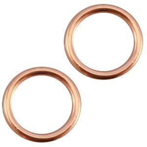 Deze dichte ring van Designer Quality is 8x1.2mm en is te koop bij kralenwinkel Limited Edition in Den Haag in de kleur rose goud.