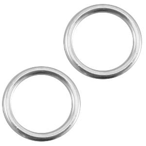 Deze dichte ring van Designer Quality is 8x1.2mm en is te koop bij kralenwinkel Limited Edition in Den Haag in de kleur antiek zilver.