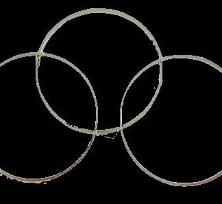 Deze metalen cirkel voor Puca patronen is te koop bij kralenwinkel Limited Edition in de kleur zilver.