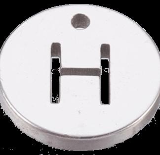 Deze bedel van roestvrijstaal is te koop bij kralenwinkel Limited Edition in Den Haag in de kleur zilver in de vorm H.