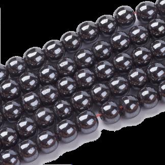 Deze Hematiet kralen van 6mm zijn te koop bij kralenwinkel Limited Edition in Den Haag.