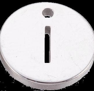 Deze bedel van roestvrijstaal is te koop bij kralenwinkel Limited Edition in Den Haag in de kleur zilver in de vorm I.
