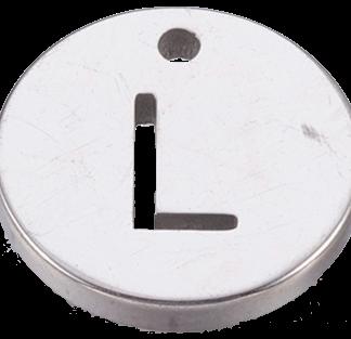 Deze bedel van roestvrijstaal is te koop bij kralenwinkel Limited Edition in Den Haag in de kleur zilver in de vorm L.