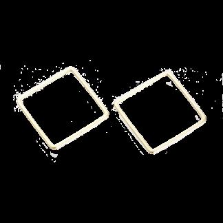 Dit metalen vierkant voor Puca patronen is te koop bij kralenwinkel Limited Edition in de kleur goud.