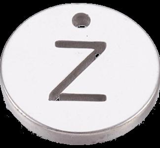 Deze bedel van roestvrijstaal is te koop bij kralenwinkel Limited Edition in Den Haag in de kleur zilver in de vorm Z.
