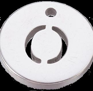 Deze bedel van roestvrijstaal is te koop bij kralenwinkel Limited Edition in Den Haag in de kleur zilver in de vorm O.