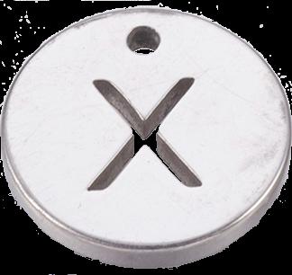 Deze bedel van roestvrijstaal is te koop bij kralenwinkel Limited Edition in Den Haag in de kleur zilver in de vorm X.