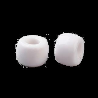 Deze acryl kralen met groot gat zijn te koop bij kralenwinkel Limited Edition in Den Haag in de kleur wit.