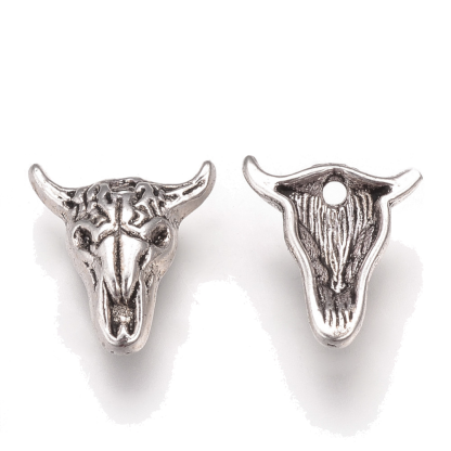 Deze bedel in de vorm van een buffelkop is te koop bij kralenwinkel Limited Edition in de kleur antiek zilver.