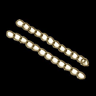 Met deze verleng ketting kun je makkelijk je armband of ketting wat langer maken en is te koop bij kralenwinkel Limited Edition in de kleur antiek brons.