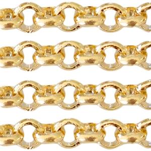 Deze DQ jasseron ketting is te koop bij kralenwinkel Limited Edition in Den Haag in de maat 3mm in de kleur goud.