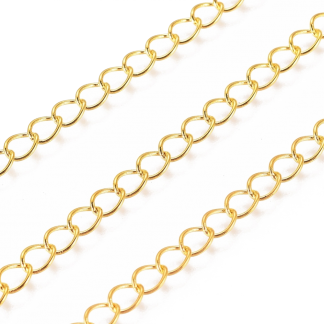 Deze ovalen schakel ketting kan gebruikt worden voor verlengkettingen en is te koop bij kralenwinkel Limited Edition in de kleur goud.