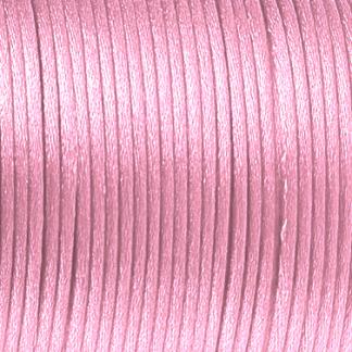 Dit satijnkoord is te koop bij kralenwinkel Limited Edition in Den Haag in de maat 2mm in de kleur baby roze.