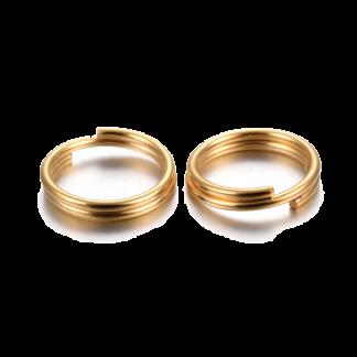 Deze RVS split ringetjes zijn te koop bij kralenwinkel Limited Edition in Den Haag in de kleur goud in de maat 6x1.5mm.