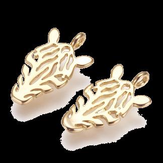 Deze bedel in de vorm van een zebra is te koop bij kralenwinkel Limited Edition in de kleur goud.