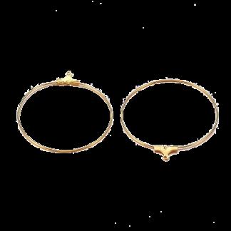 Deze creolen oorbel hangers kun je aan een oorbelhaakje bevestigen en zijn te koop bij kralenwinkel Limited Edition in Den Haag in de kleur goud.