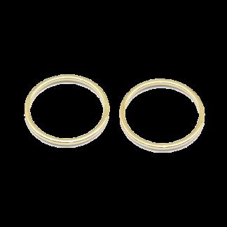 Deze metalen cirkel van Messing is 30x1mm groot en kan gebruikt worden voor patronen en is te koop bij kralenwinkel Limited Edition in de kleur goud.
