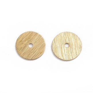 Deze vergulde kralen met groeven zijn te koop bij kralenwinkel Limited Edition in de kleur goud in de maat 8x0,5mm.