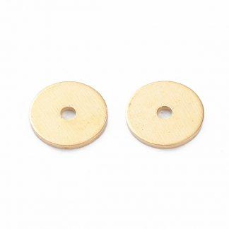Deze vergulde kralen met groeven zijn te koop bij kralenwinkel Limited Edition in de kleur goud in de maat 6x0,5mm.